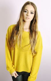 Boxy Jumper In Mustard